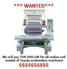 We buy used Toyota machines!