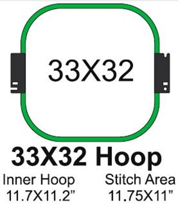 Picture of Tajima 33x32 Embroidery Hoop