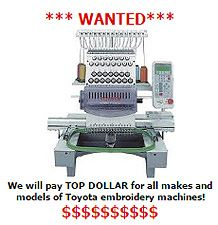 We buy used Toyota machines!