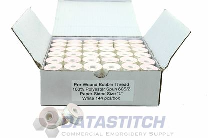 Picture of White Paper Sided Bobbins
