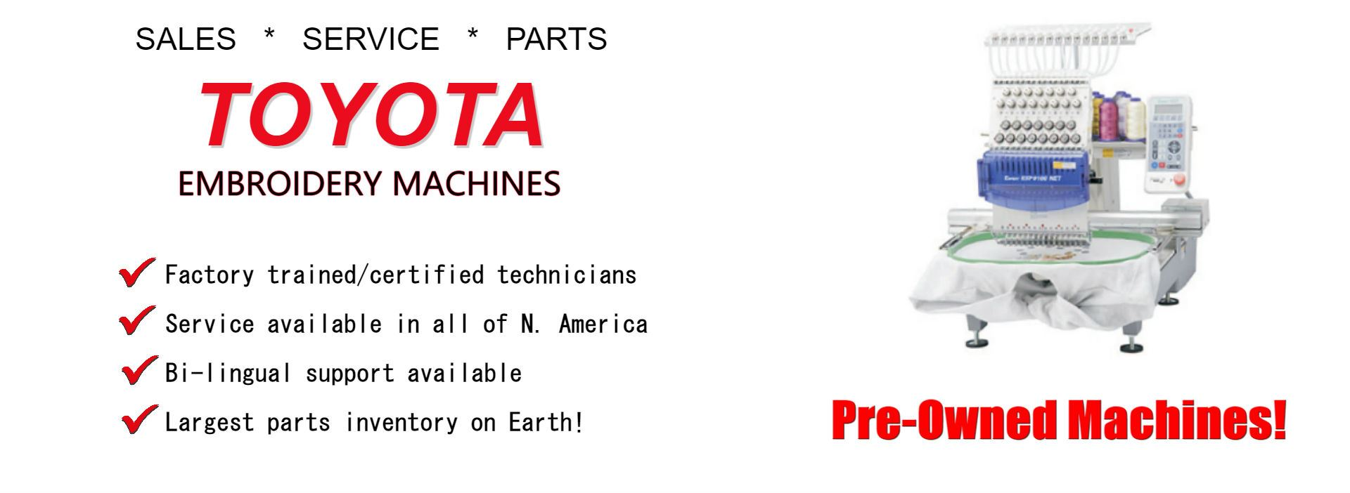 Toyota Embroidery Machines